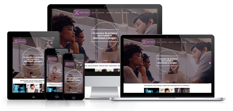 Corporate image consultant in colombia, responsive versions of the website