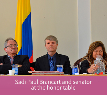 Sadi Paul Brancart at the honor table, Corporate Image Consultant in Colombia