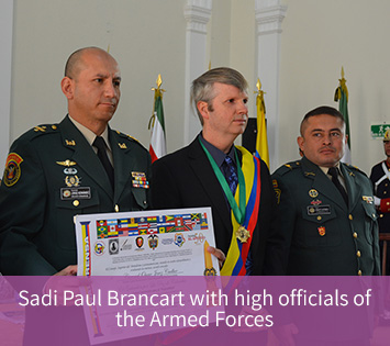 Sadi Paul Brancart received an award at the Colombian Congress